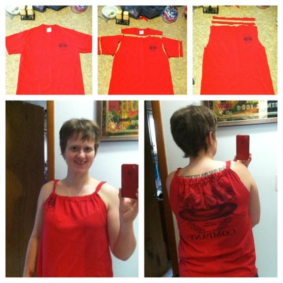 T-shirt to summer shirt