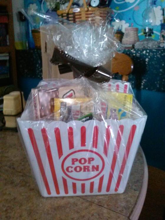 Movie Themed Gift Basket