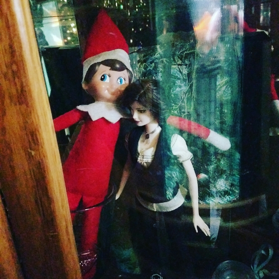 He found my Alice doll. She is very pretty!